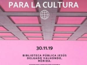 """Jornada """"Oportunidades de financiación para la Cultura"""". Mérida, sábado 30 de noviembre de 2019"""