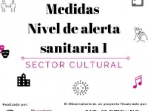 Medidas que afectan al sector cultural en el nivel de alerta sanitaria 1.